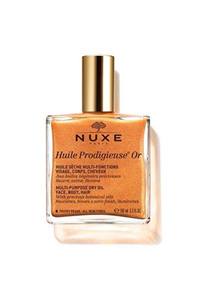 Nuxe Huile Prodigieuse Or - Altın Parıltılı Çok Amaçlı Yüz, Vücut, Saçlar Için Kuru Yağ 100 ml
