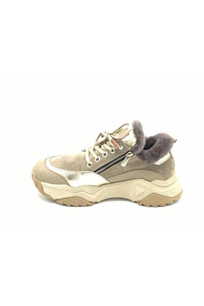 İLVİ Kadın Kürklü Sneaker 35fuks