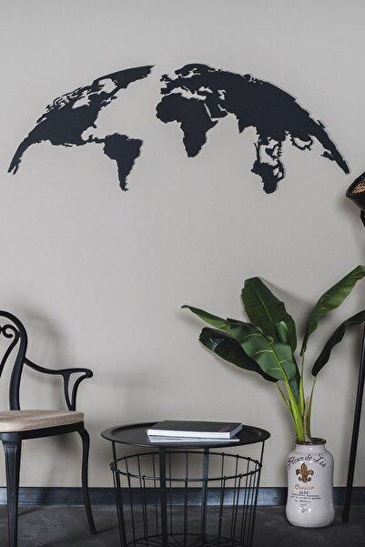 Northshire The Globe - Dünya Haritası - Dekoratif Metal Dekor Duvar Tablo - Duvar Süsü