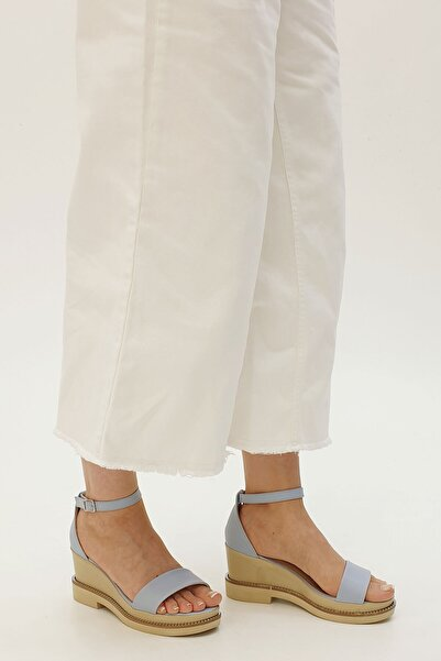 Marjin Conliz Kadın Dolgu Topuk Sandaletmavi