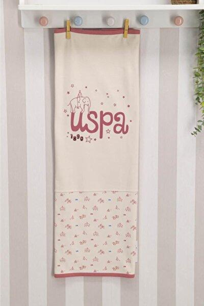 U.S. Polo Assn. Lisanslı Vanilya Bebek Battaniye