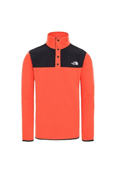 THE NORTH FACE Erkek Turuncu Tkaglcr Snpnk Sweatshirt Nf0a4ajdsh91