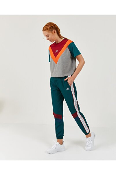 SKECHERS High Vibes 2 W Colorblock V Neck Tee Kadın Gri Tshirt S202391-036