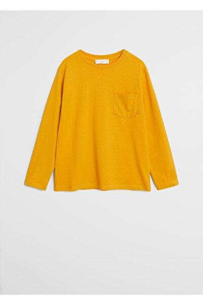 MANGO Kids Organik Pamuklu Basic Tişört