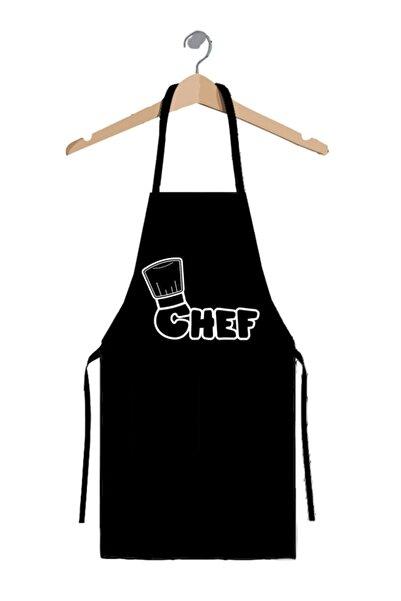 Mucito Master Chef Mutfak Önlüğü Siyah