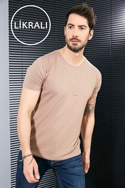 Sateen Men Erkek Taş B. Yaka Kısa Kol T-Shirt