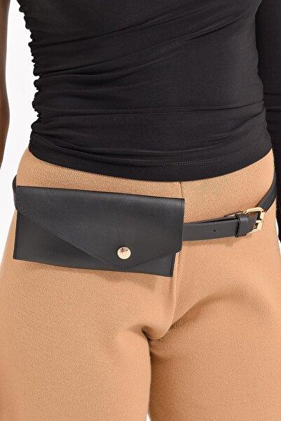 Deppoist Kadın Siyah Mini Çantalı Kemer P00012171