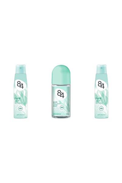 8x4 Pure Deodorant Roll On Set