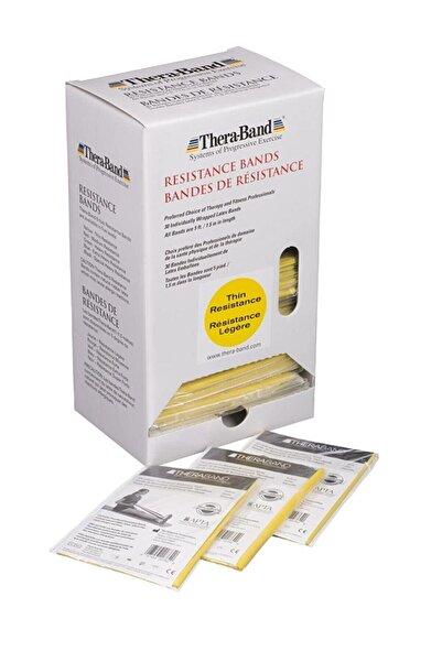 THERABAND Thera Band 1,5 Metre Sarı Orijinal Paketli Egzersiz Pilates Bandı,sarı Direnç Lastiği