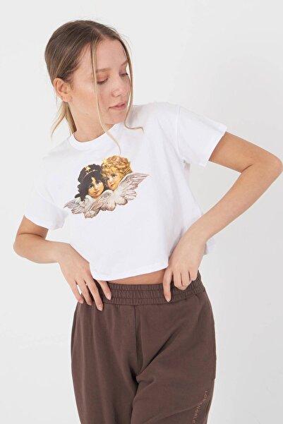 Addax Baskılı T-shirt P0873 - I8