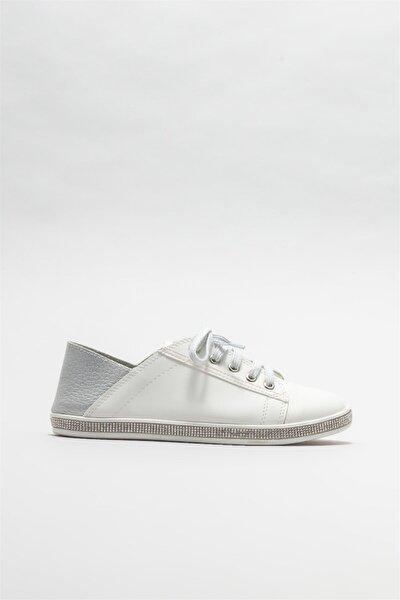 Elle Shoes Beyaz Kadın Düz Ayakkabı