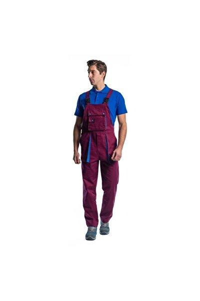Endüstri Giyim Erkek Bordo Mavi Taraftar Bahçıvan Tulum Askılı İş Tulum İş Elbisesi