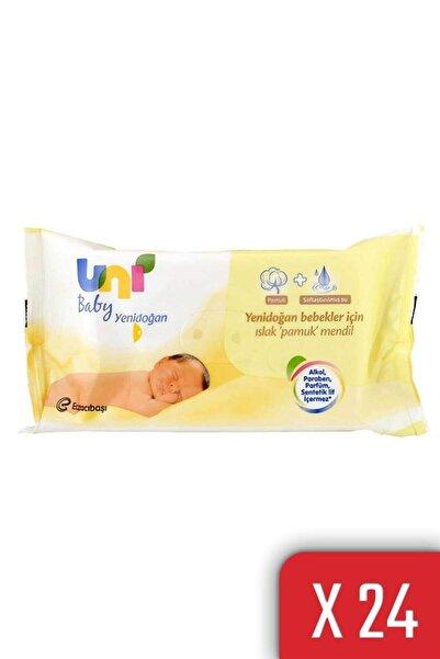 Uni Baby Yenidoğan Islak Pamuk Mendil 24'lü