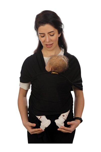 EGGBABY Siyah Bebek Taşıma Şalı Esnek Wrap Sling