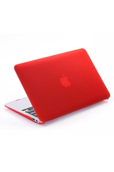 Techmaster Macbook Pro 16 2019 A2141 Uyumlu Rubber Kırmızı Kapak