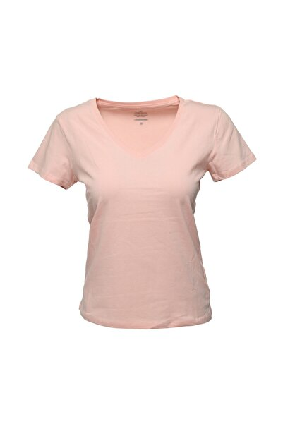 lumberjack CT130 BASIC V NECK T-SHIR Pembe Kadın T-Shirt 101031326