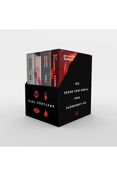 İthaki Yayınları Kara Dörtleme Kutu Set: Biz, Cesur Yeni Dünya, 1984, Fahrenheit 451