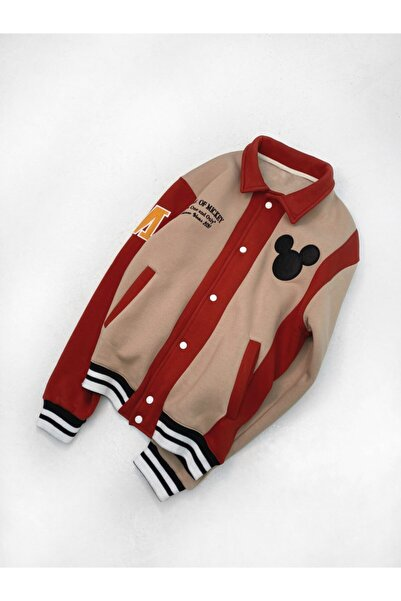 ablukaonline Mickey Mouse Oversize College Ceket