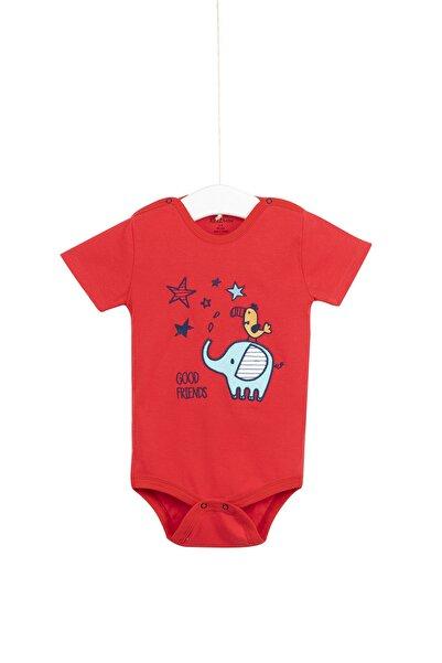 Aziz Bebe Unisex Çıt Çıtlı Kısa Kollu Badi 1-3 Yaş Azz001747