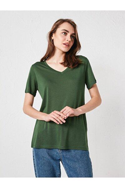 LC Waikiki Kadın Orta Yeşil Tişört