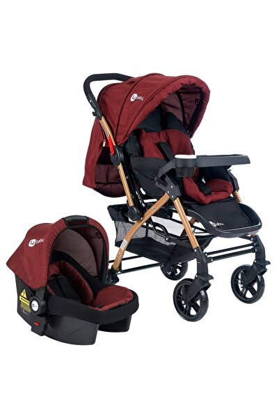 zepkids 4 Baby Ab460 Active Gold Travel Sistem Çift Yönlü Bebek Arabası Bordo