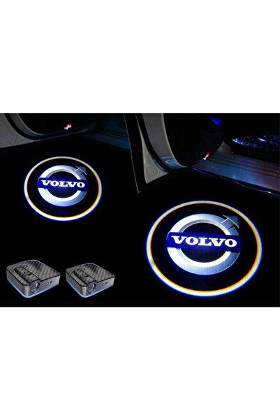 StrongMotors Volvo Araçlar Için Pilli Yapıştırmalı Kapı Altı Led Logo-markana Özel Sticker Hediye-