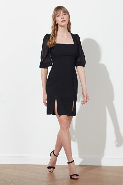 TRENDYOLMİLLA Siyah Basic Elbise TWOSS20EL1554