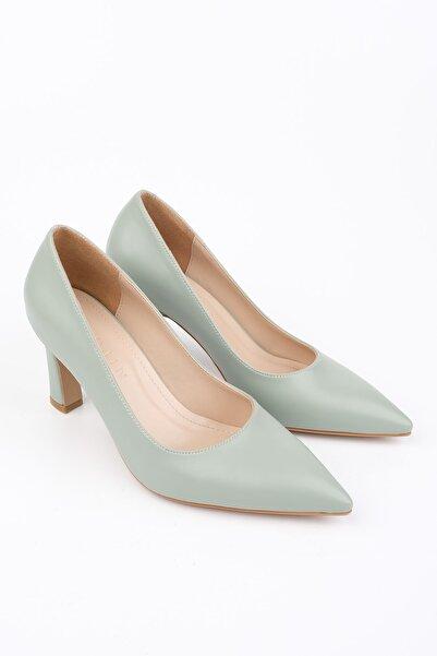 Marjin Akuna Kadın Stiletto Topuklu Ayakkabıyeşil