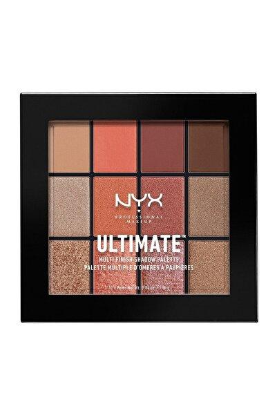 NYX Professional Makeup Göz Farı Paleti - Ultımate Multı Finish Shadow Palette Warm Rust 800897105617