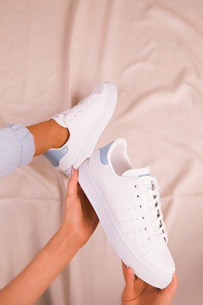 SOHO Beyaz Mavi Kadın Sneaker 14739