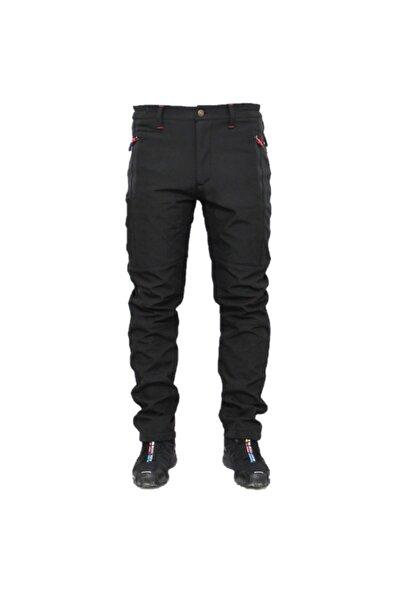 Ysf Siyah Su Ve Rüzgar Geçirmez Outdoor Trekking Softshell Pantolon
