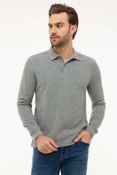 Pierre Cardin Erkek Gri Melanj Slim Fit Sweatshirt G021GL082.000.1100692