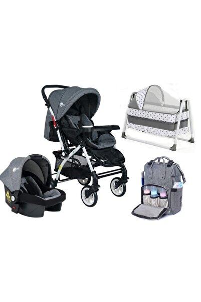 4 Baby Ab-322 Bebek Arabası Travel + Puset + Termal Çanta + Sepet Beşik