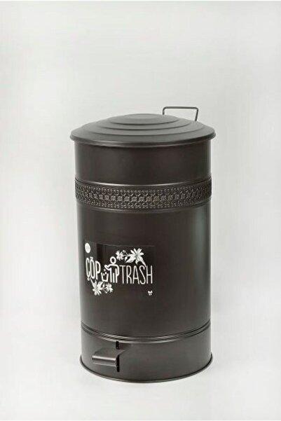 Yıldıray Metal 30 Lt Siyah Pedallı Çöp Kovası