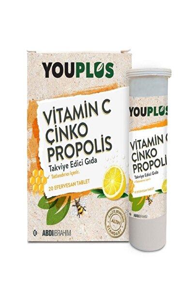 Youplus Vitamin C Çinko Propolis 20 Efervesan Tablet