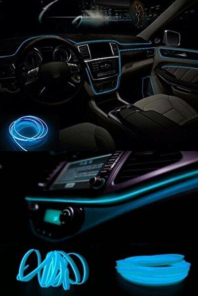 Z Tech Araç Içi Buz Mavisi Torpido Ledi - Ip Neon Led - 5 Metre Buz Mavi