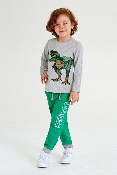 Wonder Kıds Erkek Çocuk Gri Yeşil 2'Li Takım
