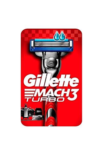 Gillette Mach3 Turbo Tıraş Makinesi 2 Yedekli Kırmızı Seri