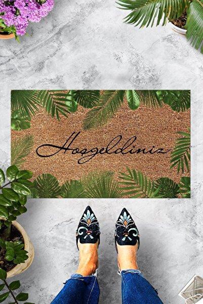 Evsebu Hoşgeldiniz Yaprak Dekoratif Kapı Önü Paspası