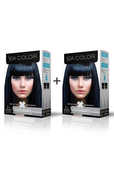 Sea Color 1.1 Mavi Siyah Boya 2'li Set