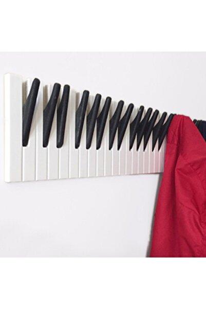 Mumu Mumaks Piyano Ahşap Duvar Elbise Askılığı