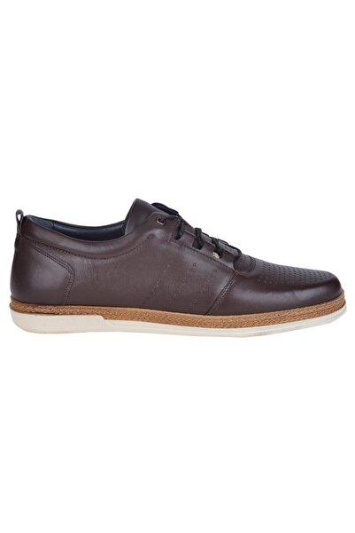Bulldozer Erkek  Kahverengi Deri Klasik Sneaker Ayakkabı 211040