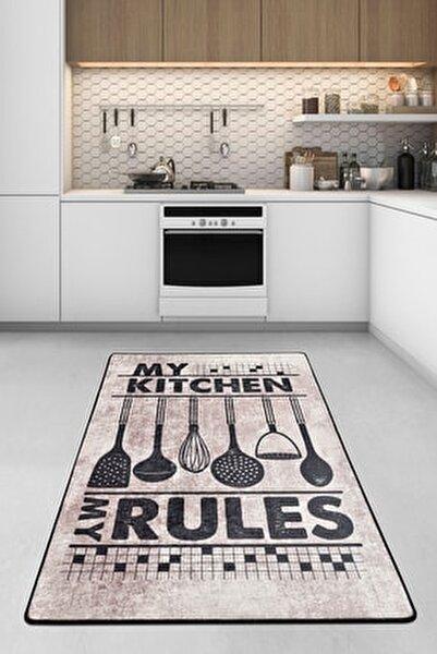 RULES DJT Mutfak Halısı, Kaymaz Taban , Yıkanabilir.