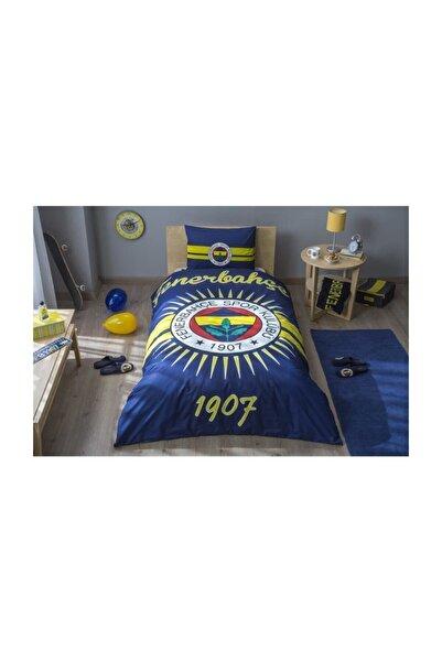Taç Tek Kişilik Lisanslı Ranforce Nevresim Takımı Fenerbahçe Parlayan Güneş