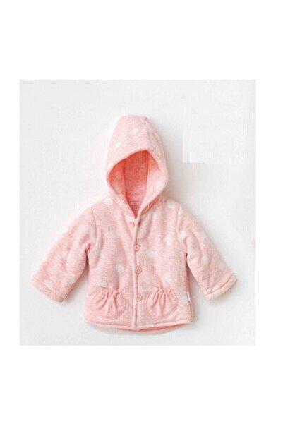 andywawa Kız Bebek Pembe Kışlık Kapüşonlu Ceket