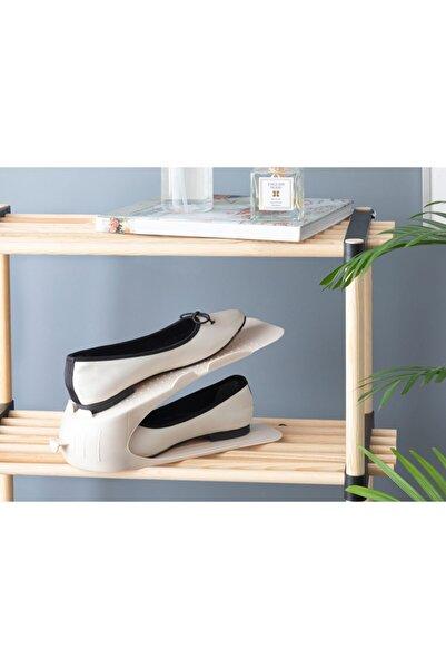English Home Lily Plastik 2 Katlı Ayakkabı Rampası 10,5x26,3x15 Cm Bej