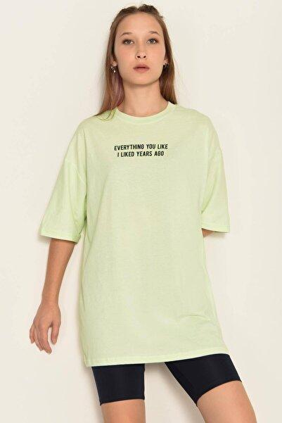 Addax Yazı Detaylı T-shirt P0958 - E3