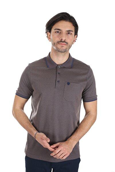 Diandor Erkek Kahverengi Polo Yaka T-shirt 1917065
