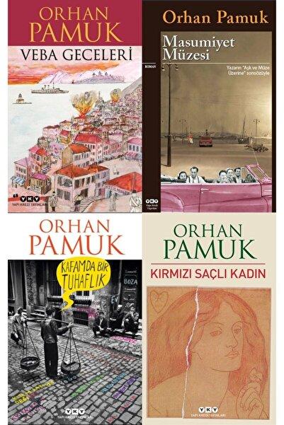 Yapı Kredi Yayınları En Çok Okunan Orhan Pamuk Kitapları Seti 4 Kitap- Veba Geceleri-kırmızı Saçlı Kadın-masumiyet Müzesi