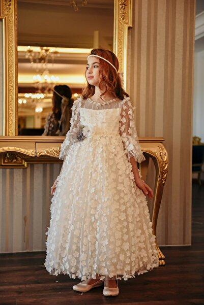 MIALORA EXCLUSİVE By Emel Ebru Özdemir Kız Çocuk Gelinlik Vintage Elbise